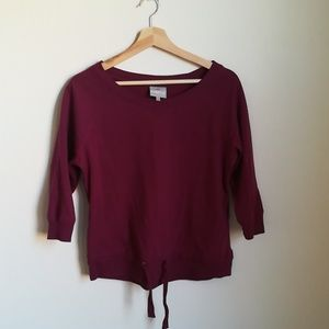 Kinetic energy workout sweater in small
